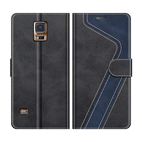 MOBESV Funda para Samsung Galaxy S5, Funda Libro Samsung S5, Funda Móvil Samsung Galaxy S5 Magnético Carcasa para Samsung Galaxy S5 / S5 Neo Funda con Tapa, Negro