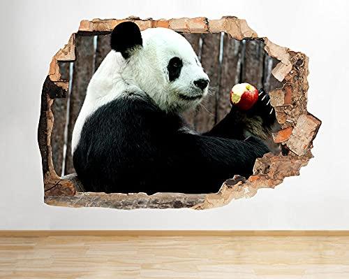 Wandaufkleber R468 Cute Panda Bear Animal Living Smashed Wall Decal 3D Art Stickers Vinyl Room