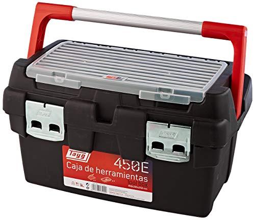 Tayg 136009 Werkzeugkasten aus Kunststoff Nr.36 Werkzeugkoffer No 36/580 x 285 x 290 mm/schwarz-rot