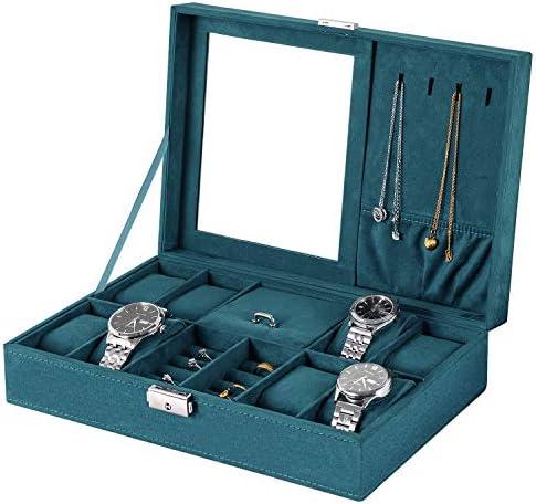 bestwishes Jewelry Box Watch Box Organizer 8 Slot Storage Watch Organizer Case Jewelry Display product image