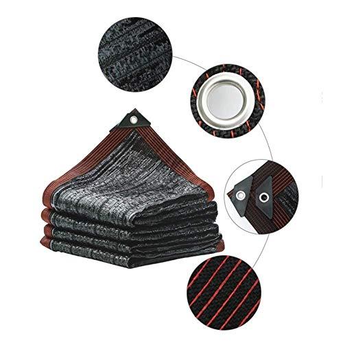 Zonnescherm Net Black Flat Woven Mesh Encryption verdikking Sunscreen Net Courtyard Dak Shade Net Kas Buiten isolatie en duurzaamheid (Color : 3x8m, Size : Black)