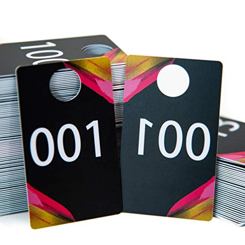 Larly Mo Sturdy Numbers for Live Sales - Matte Reverse Live Sale Number Tags - Create The Ultimate Live Party - Includes Live Number Cards 001-100