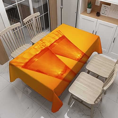 XXDD Mantel de Estilo Europeo 3D con diseño de Copa de Cristal, Mantel Rectangular de algodón Lavable para recepción de Boda A1 140x180cm
