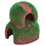 Binxory Peceras de Paisaje 1 Pieza de Simulación de Resina Olla Peces Camarones Ocultar Cueva Casa Acuario