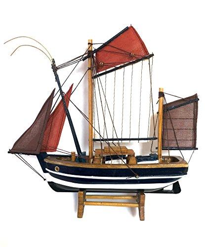 NAUTICALMANIA Maqueta Barco de Pesca Atunero Francés Fabricación Artesanal (El thonier) 24x24x6cm Se envía montada - Regalo Marinero