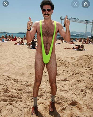 Bañador Mankini, el Original de Borat. Un Divertido bañador de una Pieza para Fiestas y Despedidas de Soltero