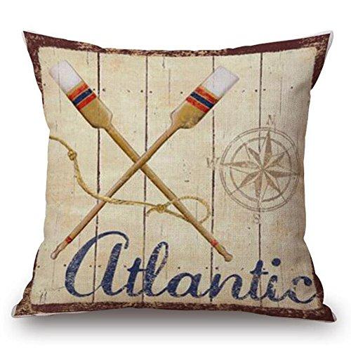 coastal throw pillow covers 4pack sea theme nautical cotton linen beach cushion cover 18 x 18 inch sea 5