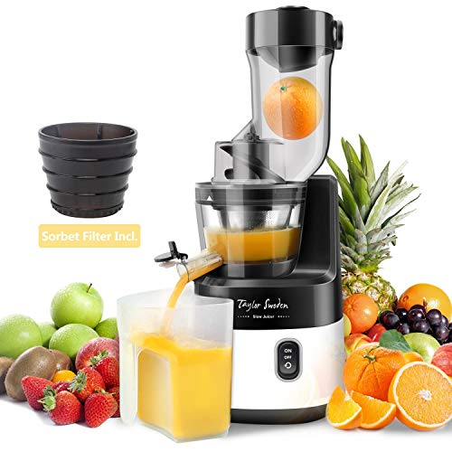 Slow Juicer Machine Extractor with Slow Cold Press Masticating Squeezer Mechanism...