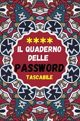 Il quaderno delle password tascabile: quaderno password alfabetizzato Un diario per organizzare nomi utente e dati d'accesso su internet | quaderno delle password per smemorati