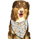 Sketch Style Beer Cider and Snack Triangle Bandana Scarves Accessories for Pet Cats and Dogs - Gifts