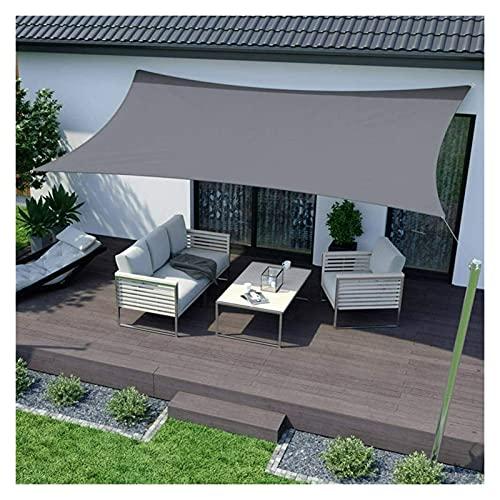 WULIL Toldo Vela De Sombra Impermeable, Toldo con Protección Solar para Jardín Al Aire Libre con Anillos En D De Acero Inoxidable para Patio/Piscina/Estanque/Patio/Patio Trasero