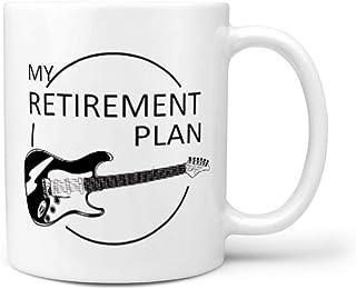325 ml pensionsplan gitarr mugg porslin humor mugg kopp – män vit 330 ml
