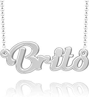Infinite Memories Personalized Custom Name Necklace Script Initial Nameplate Necklace for Women