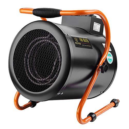 XGGYO 3KW Calefactor Industrial-3 funciones ajustables, protección contra sobrecalentamiento, se adapta perfectamente a talleres, garajes, oficinas y en el hogar/Negro