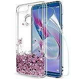LeYi Custodia Huawei Honor 9 Lite Glitter Cover con HD Pellicola,Brillantini Trasparente...