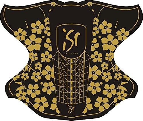 100 ST. ISR NAIL CARE selbstklebende Nagelschablonen Modellierschablonen extrabreit Nagel Schablonen Nail Form für Gel und Akrylmodellage