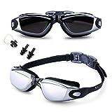 Feilan Gafas de natación,Gafas para Nadar Antiempañado y Anti Rayos UV para Hombres Mujeres Adultos Jóvenes Niños -...