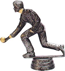 """Kegler-Pokal komplett auf Marmorsockel montiert Gravur: 4 Zeilen mit höchstens 20 Buchstaben pro Zeile. Zur Texteingabe bitte auf """"Jetzt anpassen"""" klicken. Größe der Figur (mit Sockel): 13cm."""