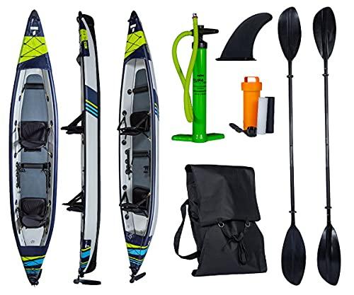 Wassersport TAHE 21 Kayak AIR Breeze Full HP PRO Inflatable Kanau Tourenkajak 3 Personen 473cm