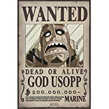 ABYstyle - One Piece – Poster Wanted Usopp New (52 x 35)