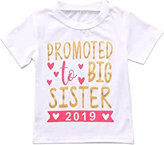 2019 Baby Girl Clothes Outfit Big Sister Letter Print T-Shirt Top Blouse Shirts