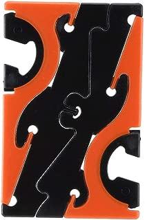 Iphone 6プラス5 s電話ホルダーエッジスタンドサポートアクセサリー(ブラックオレンジ)のミニカード電話ホルダー調整可能な電話Monut