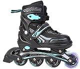 WENLI Rollers Quad New Enfants Réglable Patins Patin À roulettes Boy Set Girl Pleine Skates Chaussures Flash Simple 3 Taille 3 Couleurs (Color : Blue, Size : S)