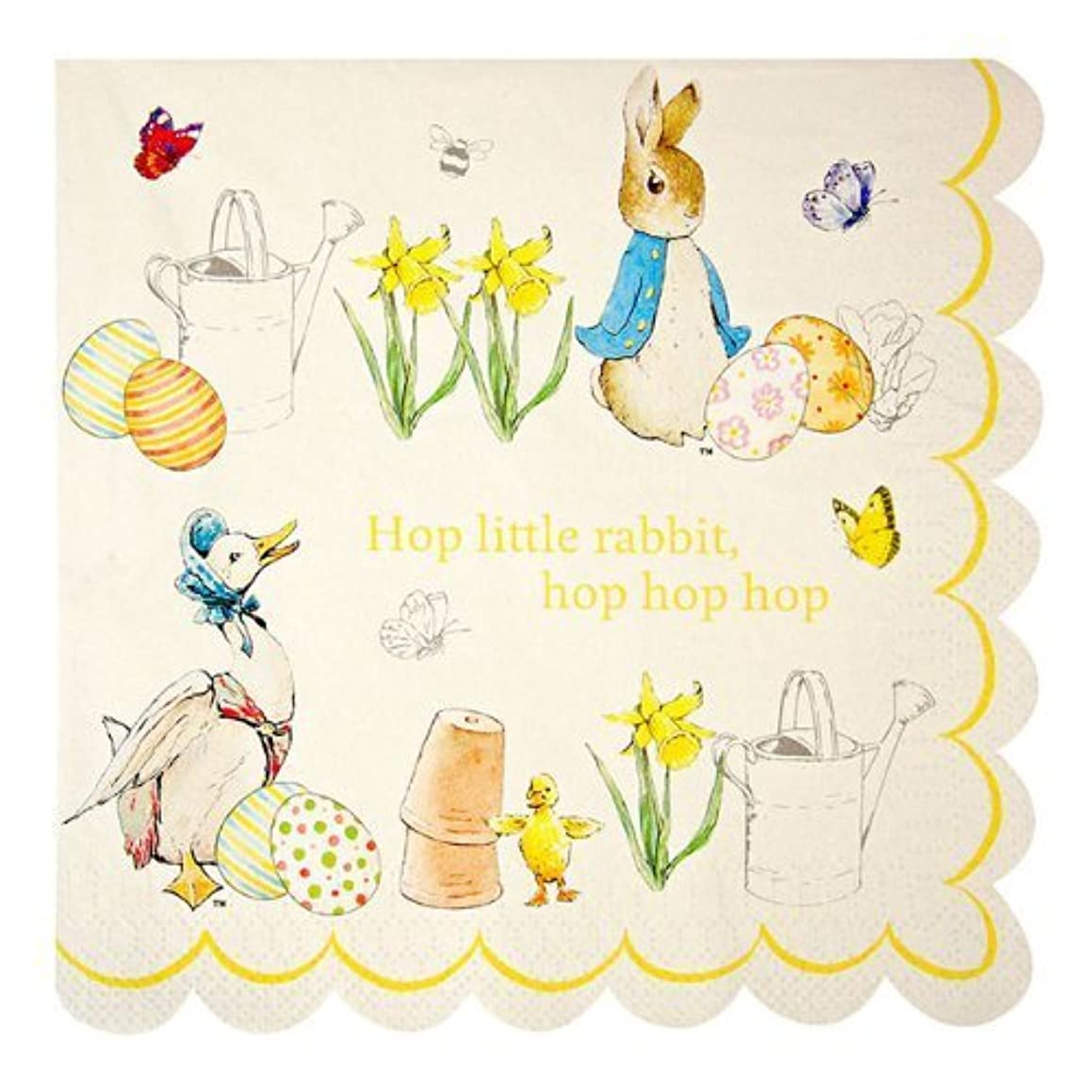 Pack of 20 Peter Rabbit & Friends Large Easter Party Napkins