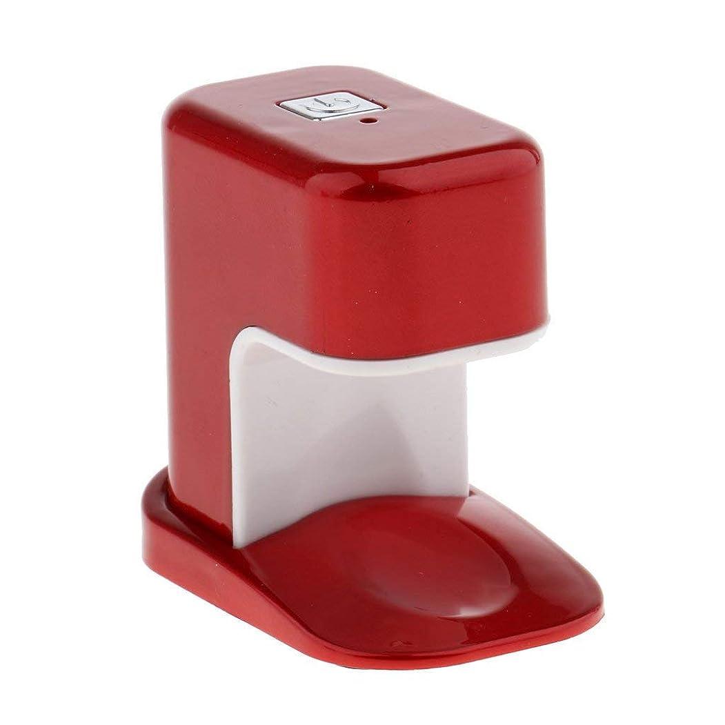 あたり強調真面目なPaick ネイルドライヤー 3W LED電球 USBケーブル UV マニキュアドライヤー ニポータブル単一指ネイルアートのLED 3色選べ - 赤