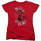El Hobbit Kili es mi héroe Womens Camisa Manga Corta Rojo SM