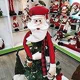 Xme Gorro de decoración navideña, Estrella Superior del árbol de Navidad, Gorro de Papá Noel
