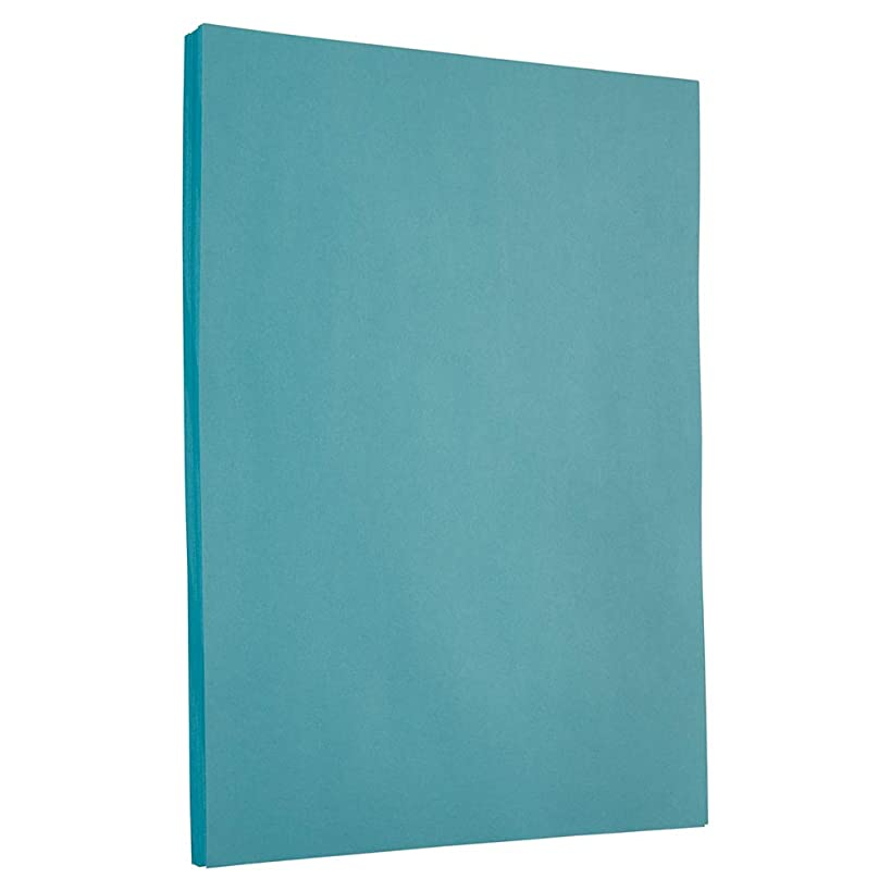 JAM PAPER Colored 65lb Cardstock - 8.5 x 11 Coverstock - Blue Recycled - 50 Sheets/Pack
