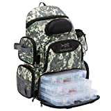 Bassdash Fishing Tackle Backpack Water Resistant Lightweight Tactical Bag Soft Tackle Box with Rod...