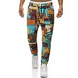 MOVERV Pantalones Deportivos Casuales Largos para Hombre Pantalones Ajustados de Lino Pantalones Deportivos para Correr Pantalones Hombre Sueltos Deporte Pantalones