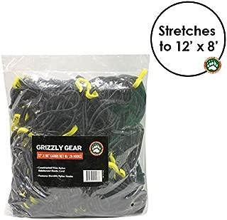 Grizzly Gear Extra Large Bungee Cargo Net | Weatherproof Truck Bed/Trailer Net | 7