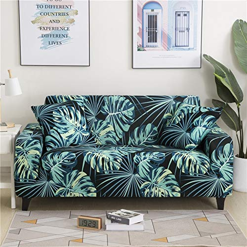 PPMP Funda de sofá elástica Floral Fundas de sofá para Sala de Estar Protector de Muebles de poliéster Fundas Funda de sofá A22 3 plazas