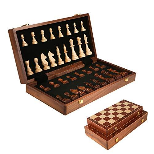 Cutfouwe AjedrezProfesional,ChessSetWooden, Ajedrez Juego de ajedrez Grande Plegable clásicos,39cm