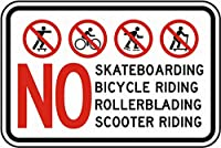 スケートボード自転車ローラーブレードスクーターなし メタルポスター壁画ショップ看板ショップ看板表示板金属板ブリキ看板情報防水装飾レストラン日本食料品店カフェ旅行用品誕生日新年クリスマスパーティーギフト