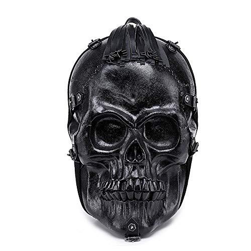 Skeleton Schädel Schulrucksack, Kreativen Mode Teenager Gothic Rucksack, Ultralight Punk Horror Laptop Rucksack for Reisen Im