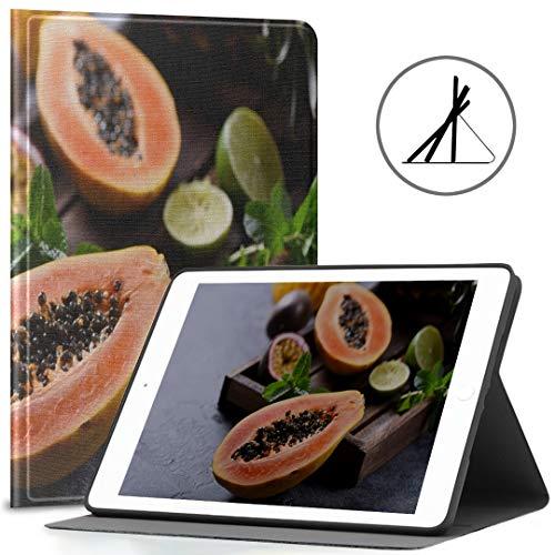Hülle für iPad 9,7 Zoll reif und köstlich Papaya Fit 2018/2017 iPad Hüllen der 5./6. Generation für iPad 9,7 Zoll passen auch für iPad Air 2 / iPad Air Auto Wake/Sleep