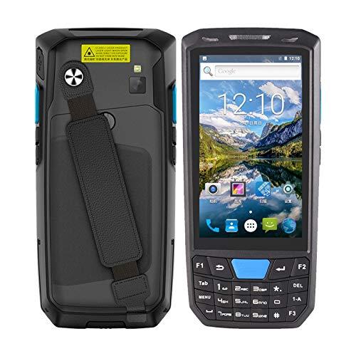 Topuality Android 8.1 PDA Terminal POS de mano 1D Escáner de código de barras Colector de datos Máquina de inventario 4G WiFi BT Computadora móvil con pantalla táctil de 4.5 pulgadas Cámara de 8MP GPS