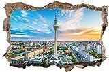 Berlin Stadt Skyline City Wandtattoo Wandsticker Wandaufkleber D0278 Größe 40 cm x 60 cm