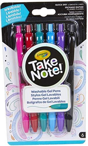 Crayola 58-6505 bolígrafo de gel Negro, Azul, Verde, Rosa, Rojo, Violeta 6 pieza(s) - Bolígrafo de gel (Negro, Azul, Verde, Rosa, Rojo, Violeta, Multicolor, De plástico, Alrededor, 0,7 mm, 120 mm)
