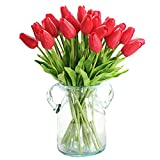 yunshuoa 30 PCS Artificial Tulip Bouquets DIY Artificial Silk Handmade Flowers Suitable for Home Room Decoration Wedding Party Decoration