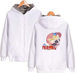 Fairy Tail Anime Printing Cosplay Costume Hoodies Winter Thick Zipper Jacket