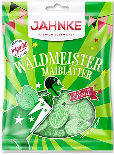 Jahnke Waldmeister Maiblätter Bonbons Glutenfrei und Laktosefrei 150g