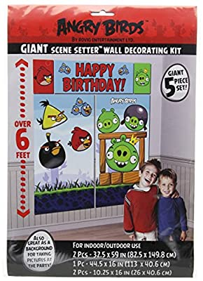 Amscan Angry Birds Scene Setter Wall Decorating Kit