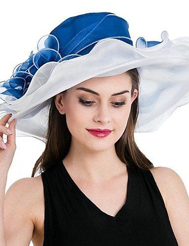 ZYT Femme Chapeau Fleur Filet de Tulle Bob Capeline Chapeau de Soleil,Mosaïque Printemps/Automne Eté Fleur, White, One-Size