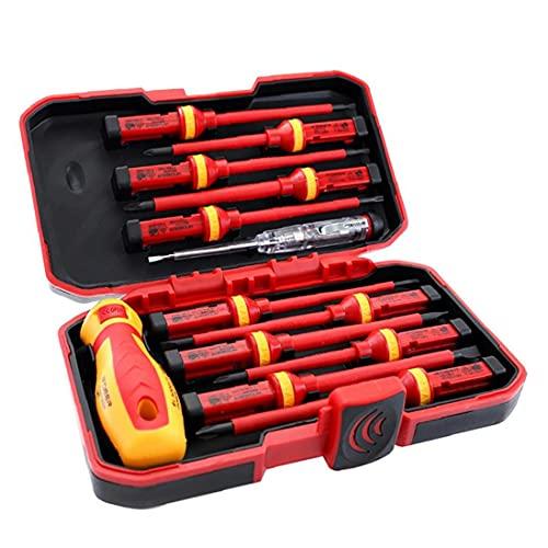 13PCS destornillador aislado electricista 1000V sistema del kit de herramientas magnéticas de reparación puntas intercambiables Kit Box