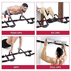 Pull up bar for Doorway, Heavy Duty Door Pull Up Bar, Portable Chin Up Bar/Pullup bar Iron Gym/Home Upper Body Workout Equipment Exercise Bar No Screw for Men/Women